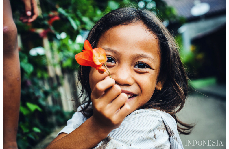 Portrait of indonesian girl